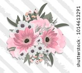 beautiful floral design. vector ... | Shutterstock .eps vector #1014613291