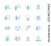 simple set of business people... | Shutterstock .eps vector #1014613465