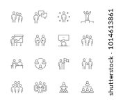 simple set of business people... | Shutterstock .eps vector #1014613861