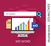 seo key word concept | Shutterstock .eps vector #1014617455