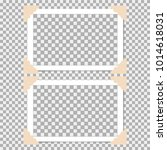 set of photo frame with angle ... | Shutterstock .eps vector #1014618031