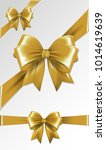 set of gold gift bows. vector... | Shutterstock .eps vector #1014619639