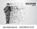 the soldier saluted. the... | Shutterstock .eps vector #1014621115