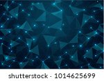 abstract glowing blue polygonal ... | Shutterstock .eps vector #1014625699