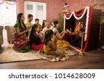 indian asian smart family... | Shutterstock . vector #1014628009