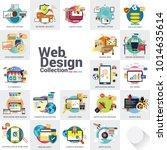 set design and mobile web...   Shutterstock .eps vector #1014635614
