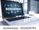 development text on modern...   Shutterstock . vector #1014635794