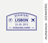 lisbon passport stamp. portugal ... | Shutterstock .eps vector #1014643501