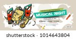 music party banner  flyer ... | Shutterstock .eps vector #1014643804