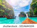 view of loh samah bay  phi phi... | Shutterstock . vector #1014644104
