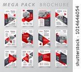 red color mega pack brochure... | Shutterstock .eps vector #1014646054