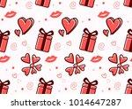 valentine seamless pattern...   Shutterstock .eps vector #1014647287