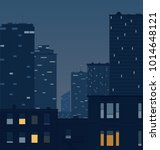 night street buildings... | Shutterstock .eps vector #1014648121