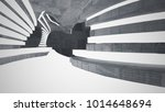 abstract  concrete parametric... | Shutterstock . vector #1014648694