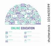 online education concept in... | Shutterstock .eps vector #1014650599