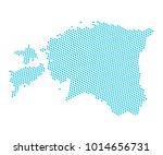 abstract blue map of estonia  ... | Shutterstock .eps vector #1014656731
