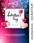 valentine day sale poster... | Shutterstock .eps vector #1014657439