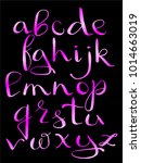 handwritten brush pen alphabet  ... | Shutterstock .eps vector #1014663019