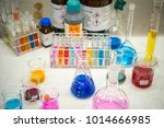 scientists are experimenting... | Shutterstock . vector #1014666985