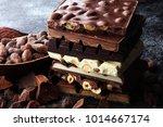 Chocolate Bars On Dark...