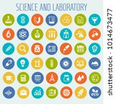 science and laboratory icon set   Shutterstock .eps vector #1014673477