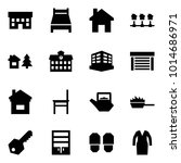 origami style icon set   house... | Shutterstock .eps vector #1014686971