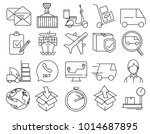 modern linear pictogram of... | Shutterstock .eps vector #1014687895