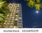 apartment windows at night for... | Shutterstock . vector #1014690259