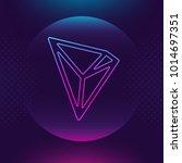 tron trx vector outline icon.... | Shutterstock .eps vector #1014697351