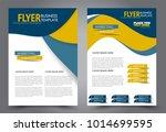 flyer template. brochure for... | Shutterstock .eps vector #1014699595
