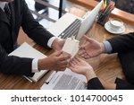 business man applying for... | Shutterstock . vector #1014700045