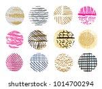 big set of vector handdrawn ... | Shutterstock .eps vector #1014700294