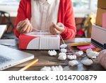 start up small business owner... | Shutterstock . vector #1014700879