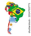 south america map mixed with... | Shutterstock .eps vector #1014703771