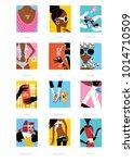 woman fashion horoscope set.  | Shutterstock .eps vector #1014710509