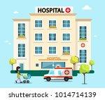 hospital flat design vector... | Shutterstock .eps vector #1014714139