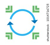 data synchronization icon | Shutterstock .eps vector #1014716725