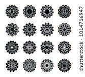 abstract flower vector icon set | Shutterstock .eps vector #1014716947