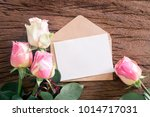 note paper with envelope and... | Shutterstock . vector #1014717031