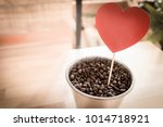 heart tag in coffee bucket  ... | Shutterstock . vector #1014718921