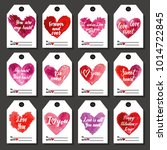 happy valentine's day tags for... | Shutterstock . vector #1014722845