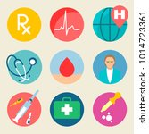 medical icon set. health care ...   Shutterstock .eps vector #1014723361
