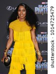 Small photo of Angela Bassett at the World premiere of Marvel's 'Black Panther' held at the El Capitan Theatre in Hollywood, USA on January 29, 2018.