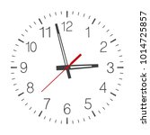 vector clock face isolated on... | Shutterstock .eps vector #1014725857