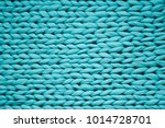 Texture Of Blue Big Knit...