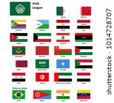 flags of the arab league and... | Shutterstock . vector #1014728707