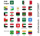 flags of the arab league and... | Shutterstock . vector #1014728887