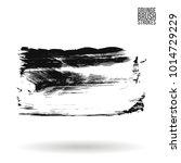 grey  brush stroke and texture. ... | Shutterstock .eps vector #1014729229