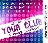 party flyer vector template | Shutterstock .eps vector #101473525