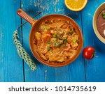 east african cuisine  ... | Shutterstock . vector #1014735619